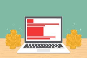 Ilustração ganhar dinheiro com conteúdo