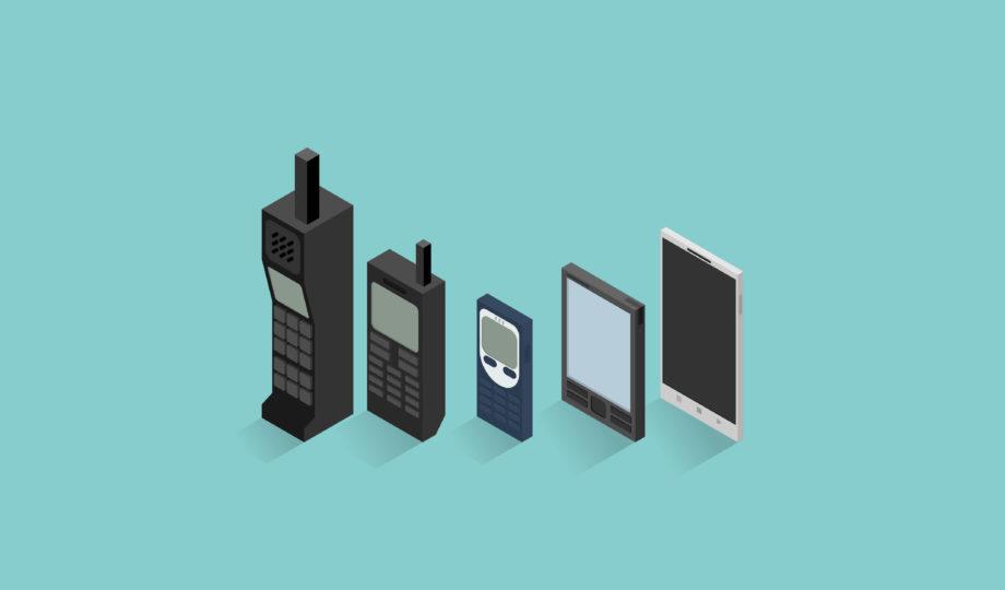Evolução dos telefones